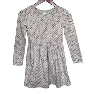 Gap Kids Gray and Pink Floral Long Sleeve Dress